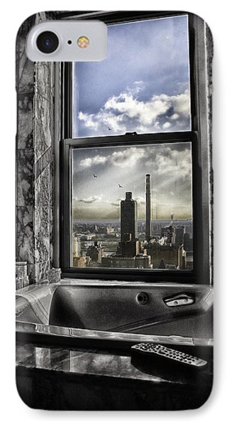 My Favorite Channel Is Manhattan View Phone Case by Madeline Ellis