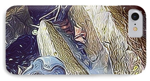 My Left Foot! #hudson #impressionist IPhone Case by Robert Campbell