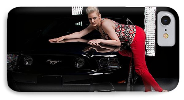 IPhone Case featuring the photograph My Mustang by Jim Boardman