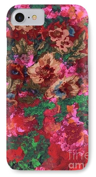 IPhone Case featuring the painting My Sister's Garden I by Alys Caviness-Gober
