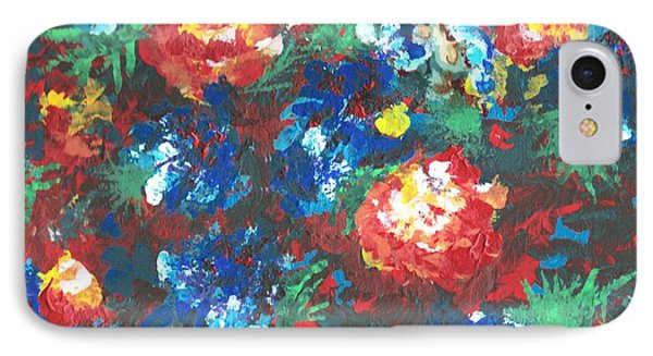 IPhone Case featuring the painting My Sister's Garden II by Alys Caviness-Gober