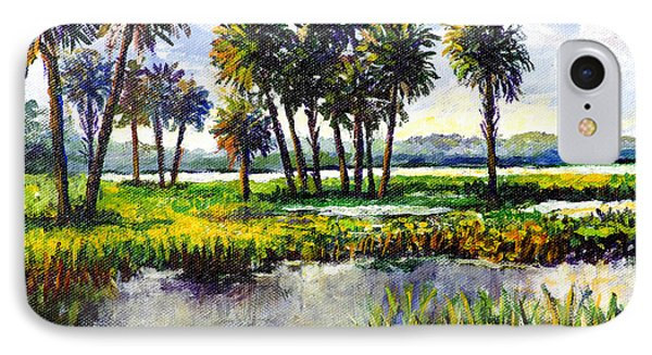IPhone Case featuring the painting Myakka Lake by Lou Ann Bagnall