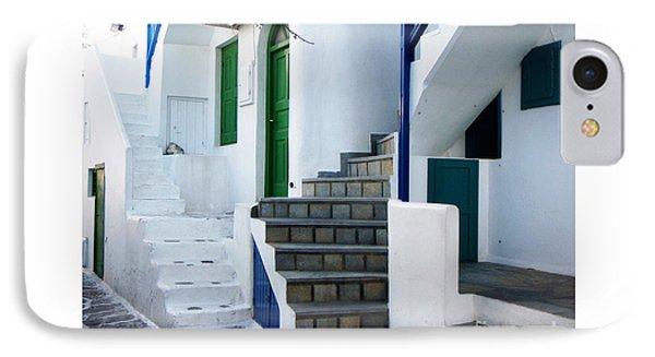 Mykonos Stairs Phone Case by Rebecca Margraf