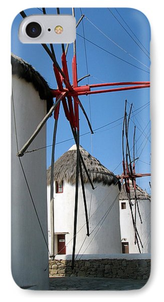 IPhone Case featuring the photograph Mykonos Windmills by Carla Parris