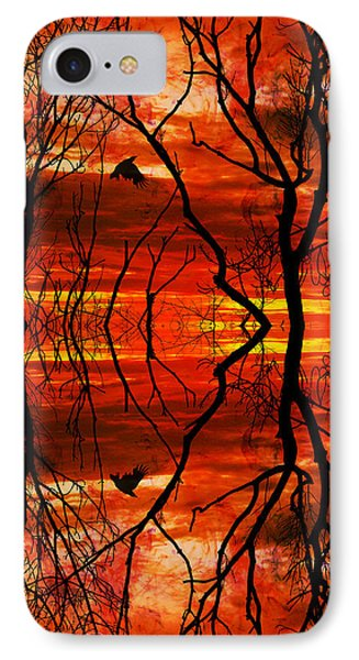 Mystical Blaze IPhone Case by Lourry Legarde