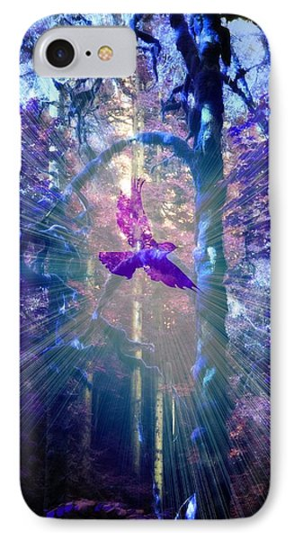 IPhone Case featuring the photograph Mystical Wings by Amanda Eberly-Kudamik