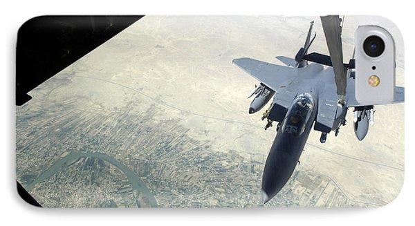 N F-15e Strike Eagle Receives Fuel Phone Case by Stocktrek Images