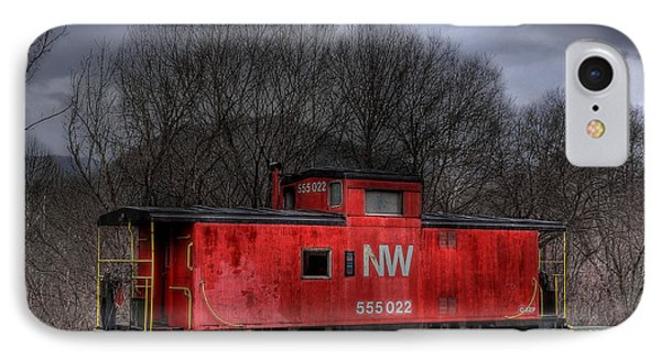 N W Caboose Phone Case by Todd Hostetter