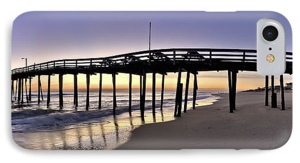 Nags Head Fishing Pier At Sunrise - Outer Banks Scenic Photography Phone Case by Rob Travis