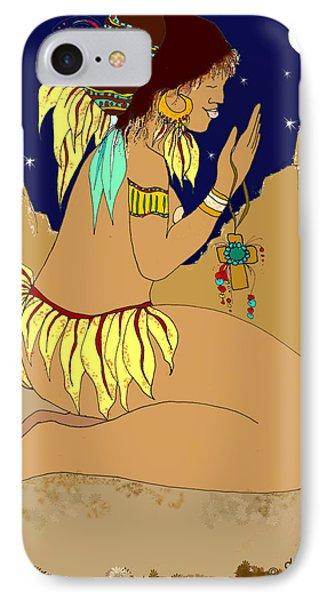 Naked Prayers Phone Case by Dede Shamel Davalos