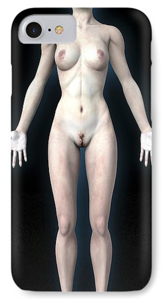 Naked Woman Phone Case by Christian Darkin