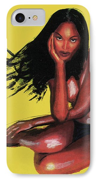 Naomi Campbell IPhone Case by Emmanuel Baliyanga