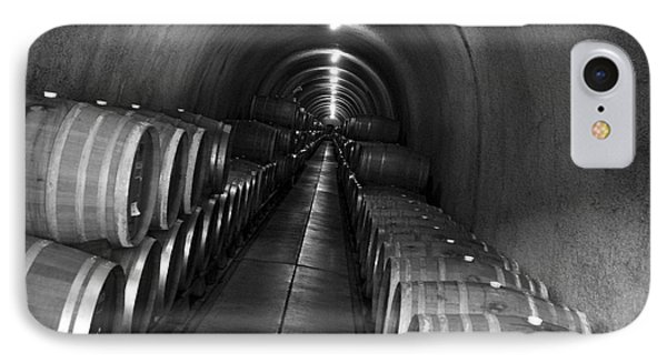 IPhone Case featuring the photograph Napa Wine Barrels In Cellar by Shane Kelly