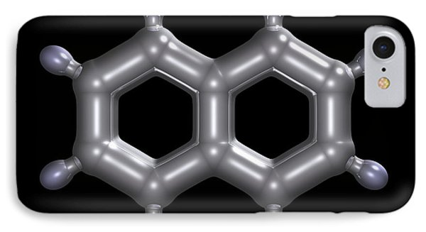Naphthalene Molecule Phone Case by Dr Mark J. Winter