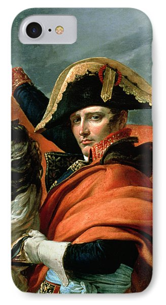 Napoleon Crossing The Alps On 20th May 1800 IPhone Case by Jacques Louis David