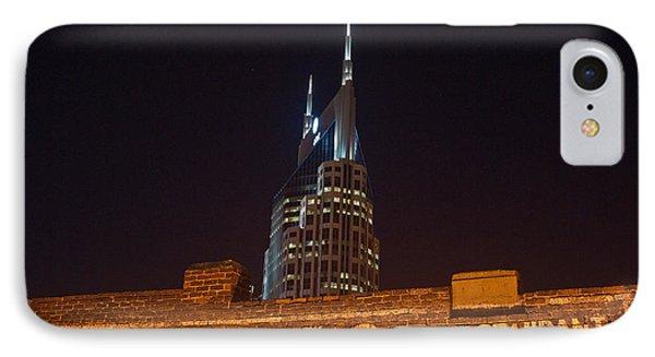 Nashville Downtown Night Scene Phone Case by Douglas Barnett