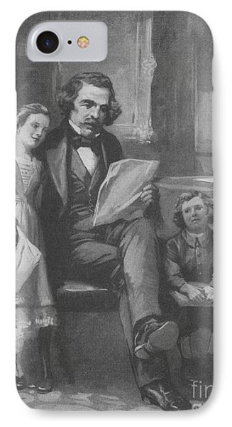 Nathaniel Hawthorne, American Author Phone Case by Photo Researchers