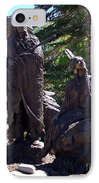 IPhone Case featuring the photograph Native American Statue by Chalet Roome-Rigdon