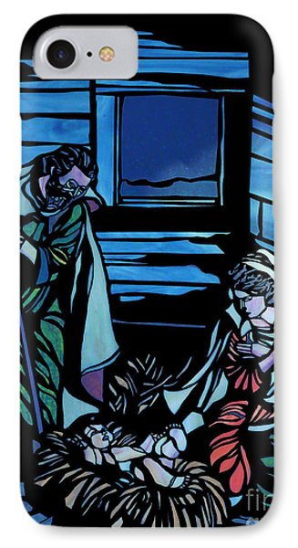 Nativity Stained Glass Phone Case by Methune Hively