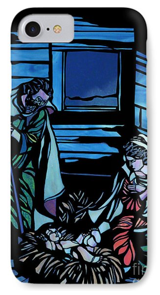 Nativity Stained Glass IPhone Case by Methune Hively