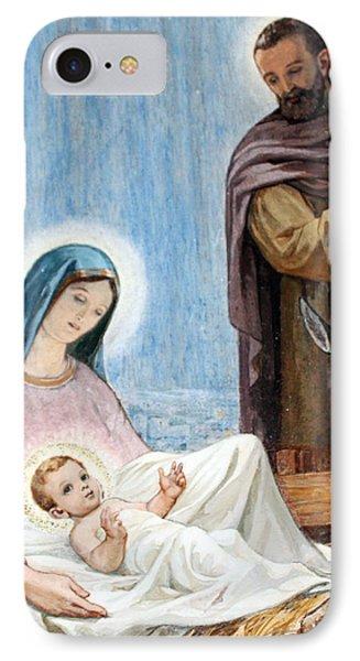 Nativity Story At Shepherds Fields Phone Case by Munir Alawi