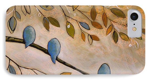 Nature Birds Painting...peaceful Garden IPhone Case by Amy Giacomelli