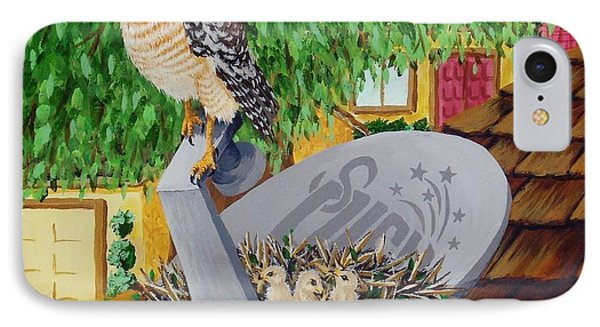 Nature Channel- Red Shouldered Hawk Phone Case by Katherine Young-Beck