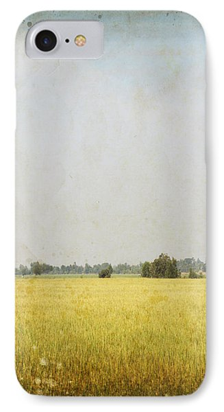 Nature Painting On Old Grunge Paper IPhone Case by Setsiri Silapasuwanchai