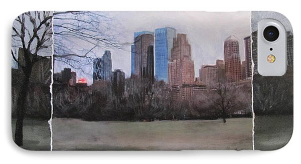 Ncy Central Park Layered Phone Case by Anita Burgermeister