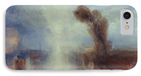 Neapolitan Fisher-girls Surprised Bathing By Moonlight Phone Case by Joseph Mallord William Turner