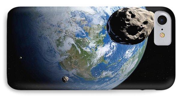 Near-earth Asteroids, Artwork Phone Case by Detlev Van Ravenswaay