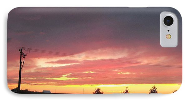 Nebraska Sunset IPhone Case by Adam Cornelison