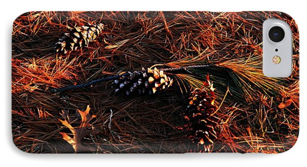 Needles Cones And Oak Leaf Phone Case by Larry Ricker