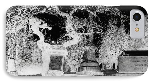 Negative Image Of Cemetary Phone Case by JSM Fine Arts John Malone