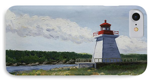 Neil's Harbor Light IPhone Case by Alan Mager