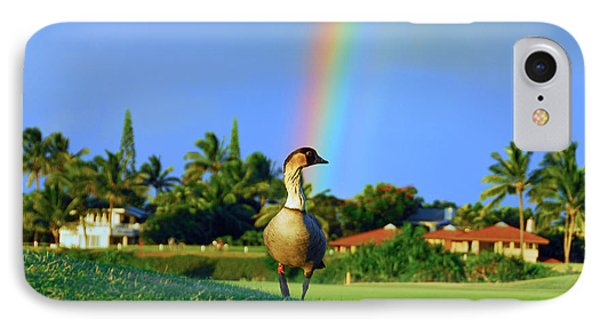 IPhone Case featuring the photograph Nene At The End Of The Rainbow by Lynn Bauer