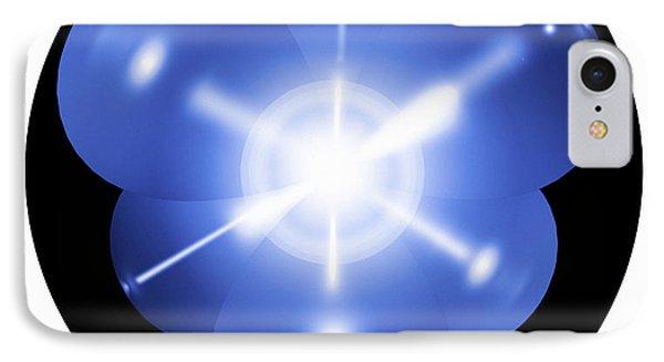 Neon Atom, Artwork Phone Case by Mehau Kulyk