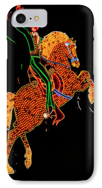 Neon Cowboy Las Vegas IPhone Case by Garry Gay