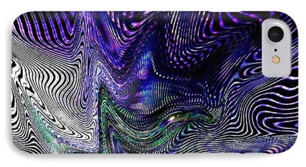 IPhone Case featuring the digital art Neon Zebra by Greg Moores