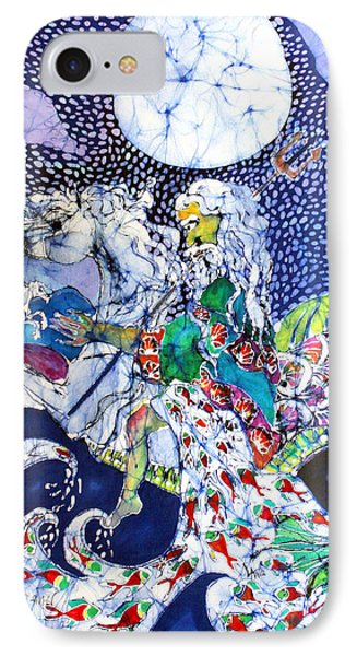 Neptune Rides The Sea Phone Case by Carol Law Conklin