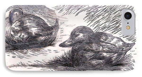 Nesting Mallards IPhone Case