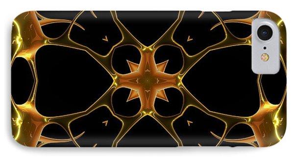 Neurons, Kaleidoscope Artwork Phone Case by Pasieka