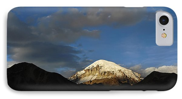 Nevado Sajama At Sunset. Republic Of Bolivia.  Phone Case by Eric Bauer
