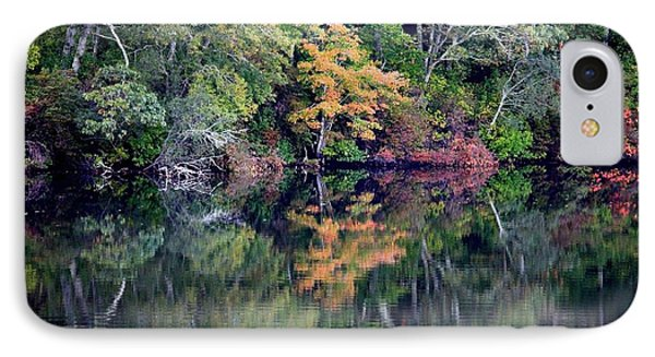 New England Fall Reflection Phone Case by Carol Groenen