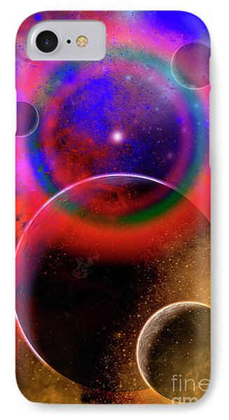 New Planets And Solar Systems Forming Phone Case by Mark Stevenson