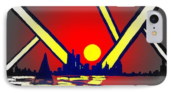 New York At Night Phone Case by Connie Valasco