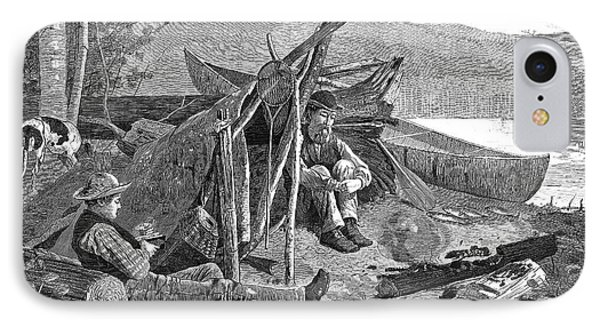 New York: Camping, 1874 Phone Case by Granger