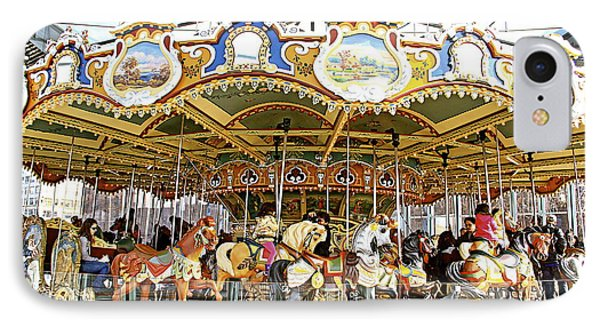 IPhone Case featuring the photograph New York Carousel by Alice Gipson