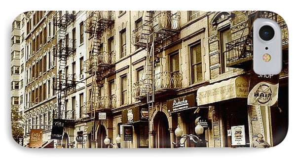 New York City - Back In Time IPhone Case by Vivienne Gucwa