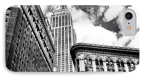 New York City - Empire State Building And Clouds IPhone Case by Vivienne Gucwa